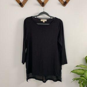 MICHAEL KORS basic sheer back shirt